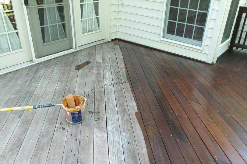 Horsham PA deck refinishing during.