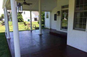 Ambler, PA concrete porch painted.