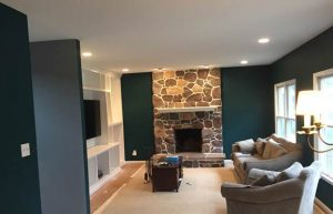 Dramatically painted family room