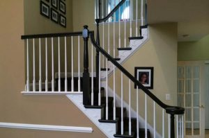 modernized foyer and stairwell.