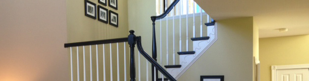 Modernized foyer and stairway