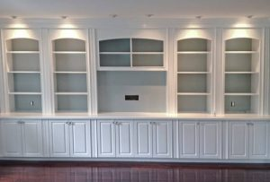 built in wall cabinets