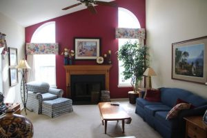 bright multicolor living room